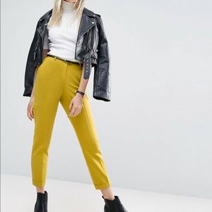 ASOS Yellow Cigarette Pants Size 6